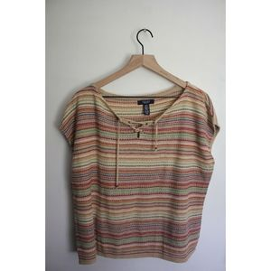CHAPS drop sleeve shirt multicolored L